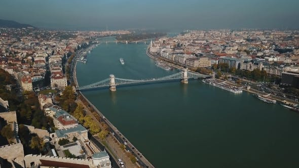 Thumbnail for Great Aerial View at Beautiful Budapest, Capital of Hungary and Danube River