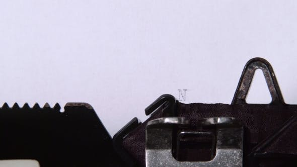 Thumbnail for Newsletter Word Printed on a Typewriter.
