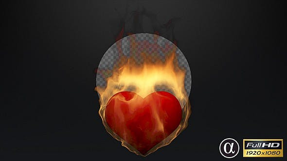 Thumbnail for 3D Heart On Fire