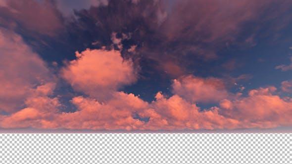 Moving Wolken Sonnenuntergang