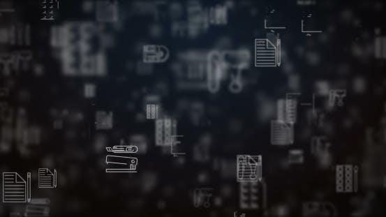 Thumbnail for Schleife verschobene Office-Icons