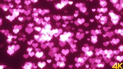 Lovely Hearts Glittering