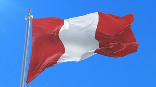 Flag of Peru Waving