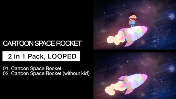 Thumbnail for Cartoon Space Rocket 2 in 1 Pack