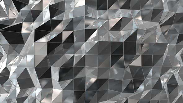 Black White Polygons