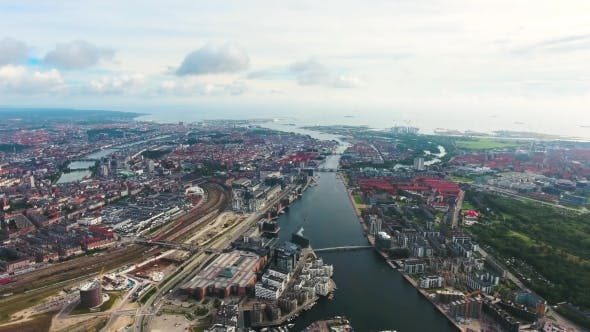 Cover Image for City Aerial View Over Copenhagen