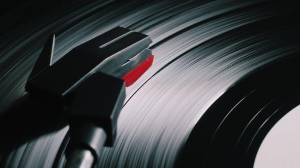 Cinemagraph, Retro Record Vinyl Player.