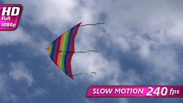 Thumbnail for Kite Flying Rainbow Colors