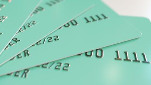 Cyan Plastic Cards