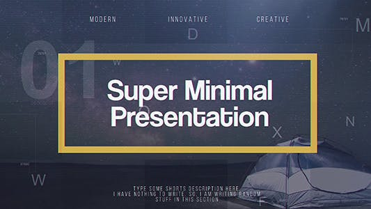 Thumbnail for Super Minimal Presentation