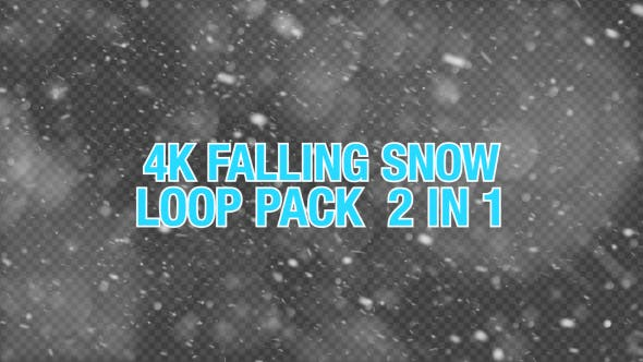 Thumbnail for 4K Falling Snow Pack 2 in 1