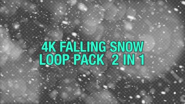 Thumbnail for 4K Falling Snow V2 Pack 2 in 1