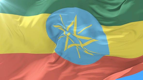 Flag of Ethiopia Waving