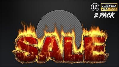 3D Hot Sale Text - 2 Pack