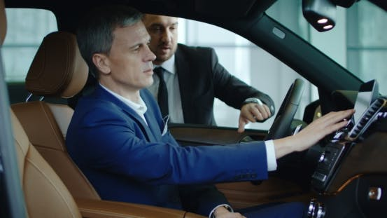 Thumbnail for Manager Showing Car To Businessman