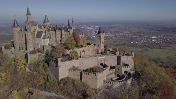 Thumbnail for Flight Around Hohenzollern Castle, Germany.