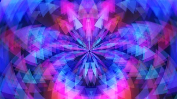 Mehrfarbige Universum Blume der Dreiecke Hintergrund