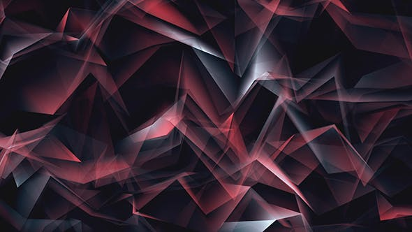 Thumbnail for Red Shiny Lines Polygonal Refraction