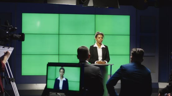 Thumbnail for Newsreader in a Production Studio