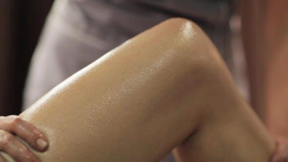 Thumbnail for Woman Lying and Having Leg Massage at Spa 26