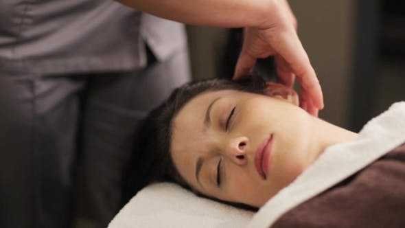 Thumbnail for Woman Having Head Massage at Spa 29