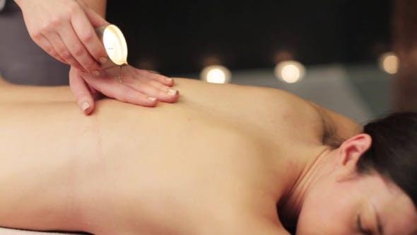 Thumbnail for Woman Lying and Having Back Massage at Spa 20