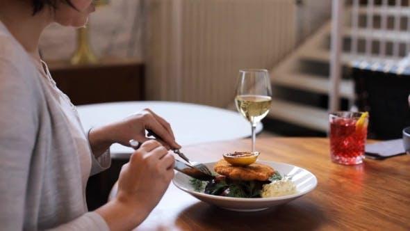 Thumbnail for Women Eating at Restaurant of Nordic Cuisine 18