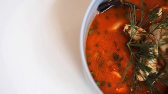 Thumbnail for of Seafood Soup with Fish and Mussels 14