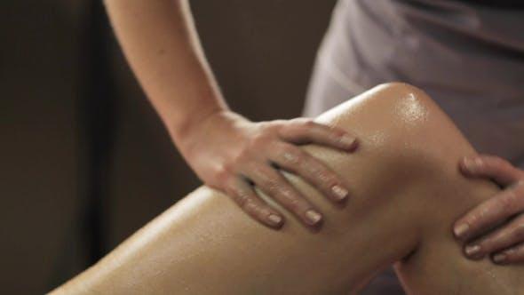 Thumbnail for Woman Lying and Having Leg Massage at Spa 27