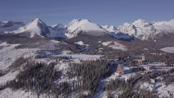Thumbnail for Flight Over Winter High Tatras Mountains, Slovakia.