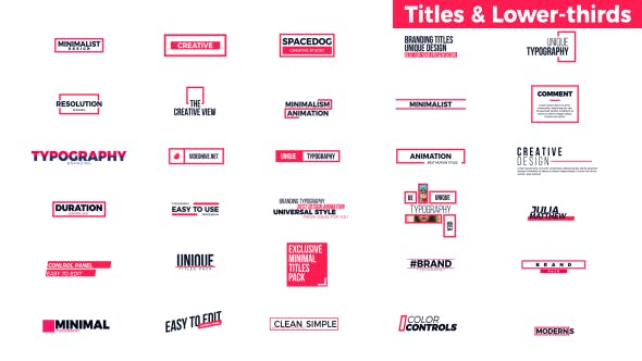 Titles & Lower-Thirds