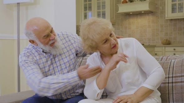 Thumbnail for Senior Woman Crying During Quarreling with Her Husband