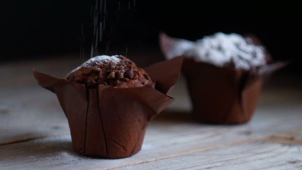Thumbnail for Muffin Cake with White Powdered Sugar