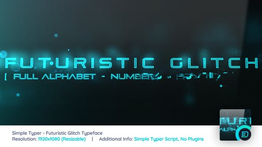 Thumbnail for Simple Typer - Futuristic Glitch Typeface
