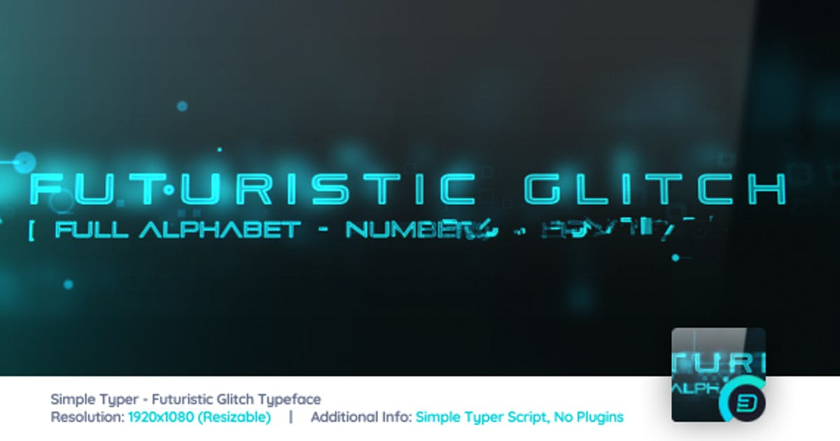 Download Simple Typer - Futuristic Glitch Typeface by d3luxxxe