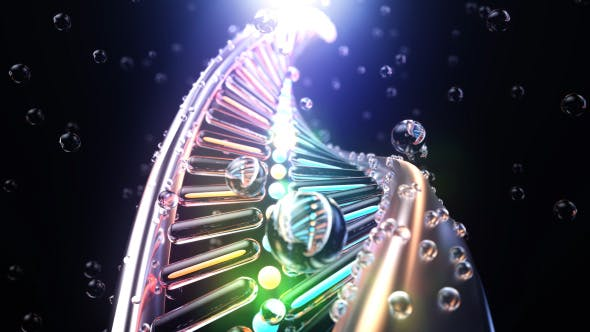 Thumbnail for 4K Dna Strand Seamless Loop