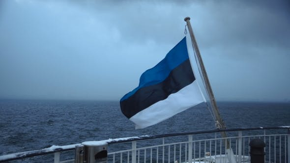 Thumbnail for Tricolor Flag Waving on Ship Deck
