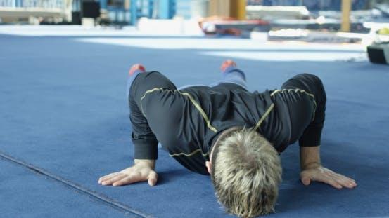 Thumbnail for Sportsman Doing Plank Hold
