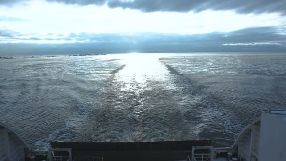 Thumbnail for Huge Ferryboat Sailing in Cold Sea