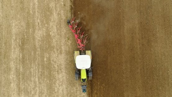 Thumbnail for Plowing  Agriculture Field -  Aerial