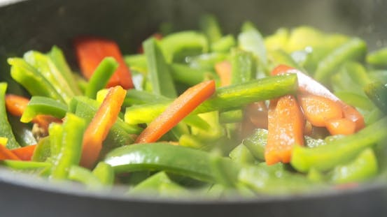 Thumbnail for Mixing Fresh Vegetables on Pan