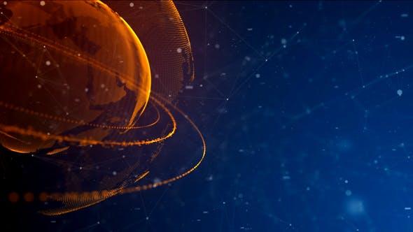Thumbnail for Digital High Tech Earth Background V1
