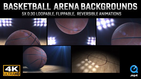 Thumbnail for College Basketball Arena Backgrounds | 5-pack (4K)
