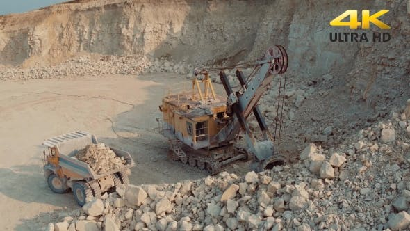 Thumbnail for Loading Heavy Dump Truck At The Opencast Mining Site