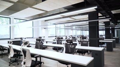An Empty and Spacious Office