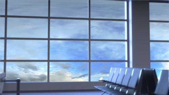 Thumbnail for Airplane Landing at Birmingham International Airport