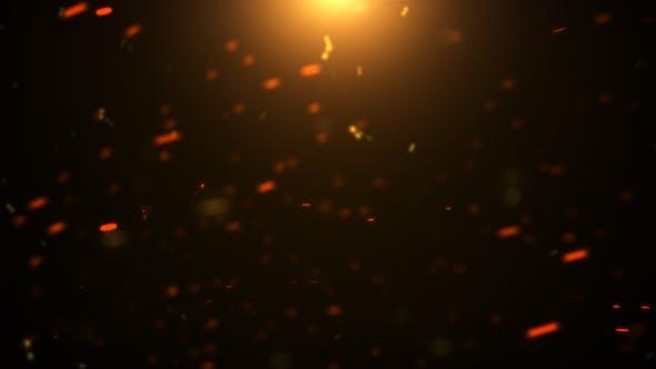 Orange Cinematic Particles