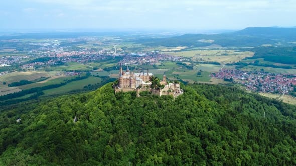 Thumbnail for Hohenzollern Castle, Germany. Aerial FPV Drone Flights.