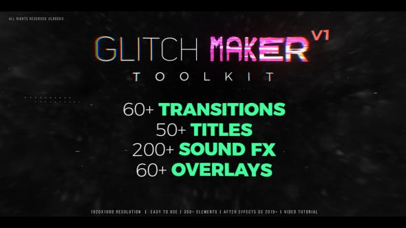 Thumbnail for Glitchmaker Toolkit 350+ Elements