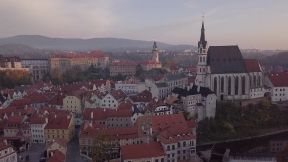 Thumbnail for Aerial Panorama of Cesky Krumlov